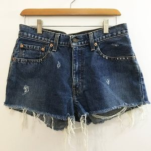 Vintage Levi's 550 Distressed Cut Off Jean Shorts